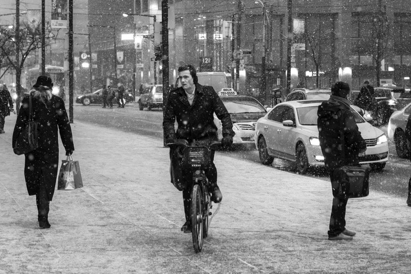 Ben Roffelsen Photography - Cycling in the Snow