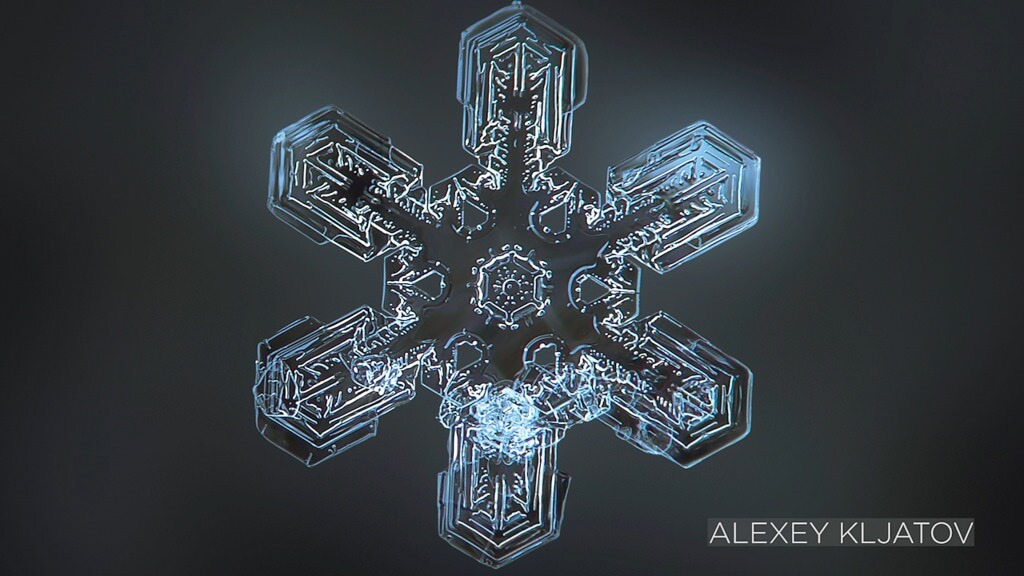 NASA Goddard Space Flight Center - Macro Snowflake