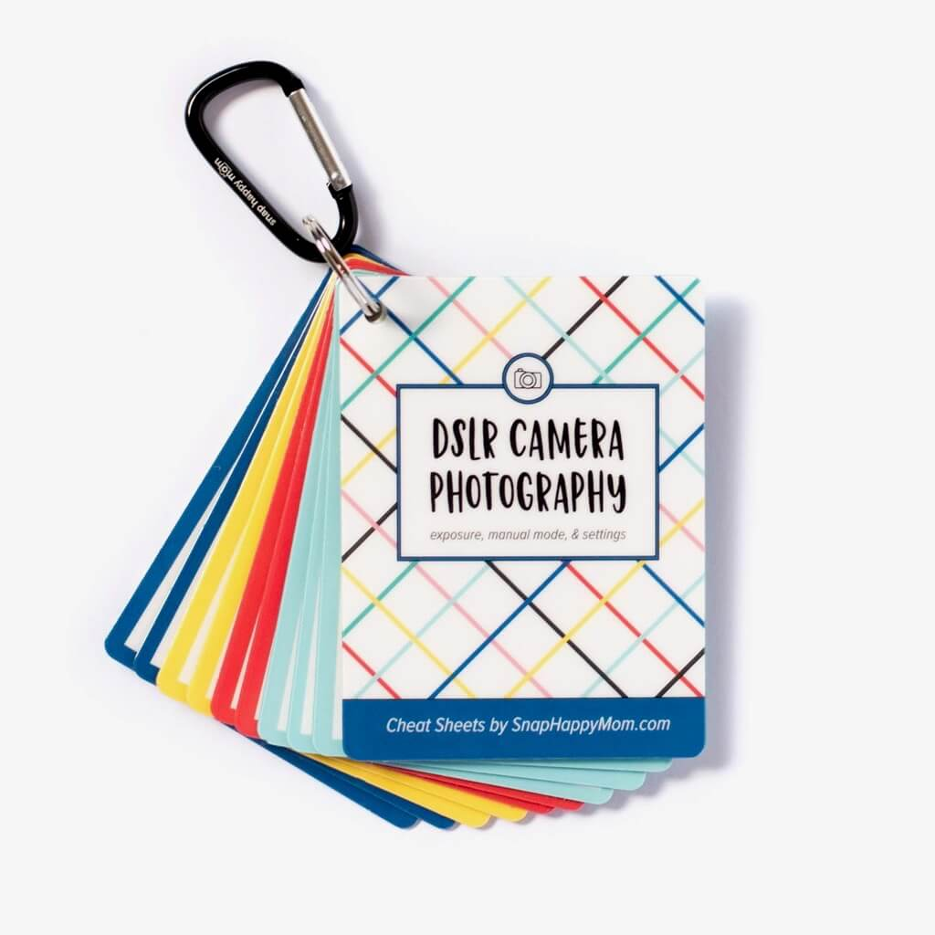 DSLR Cheat Sheet Cards for Canon, Nikon and Sony Cameras