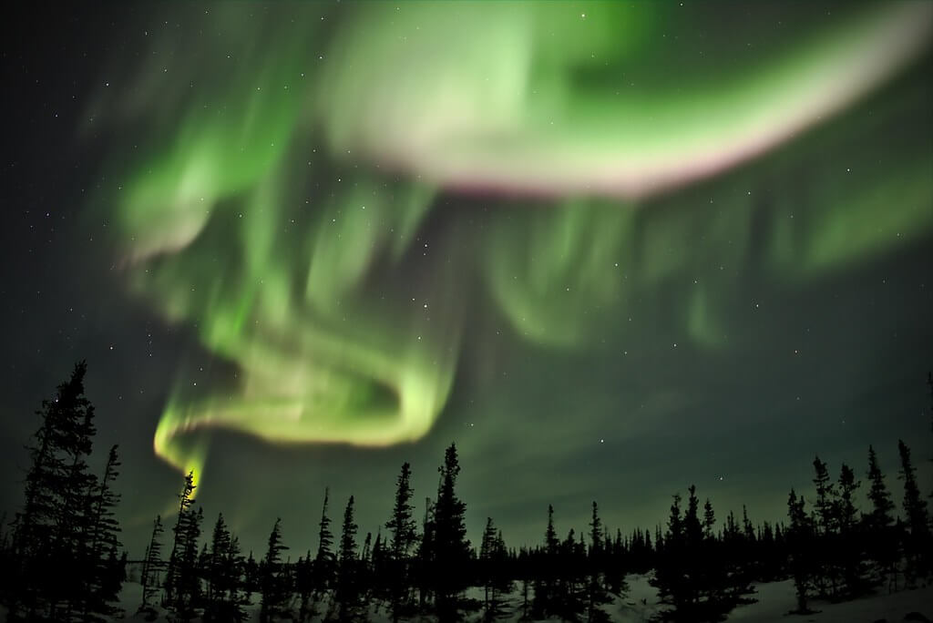 Emmanuel Milou - northern lights near Churchill Northern Studies Center