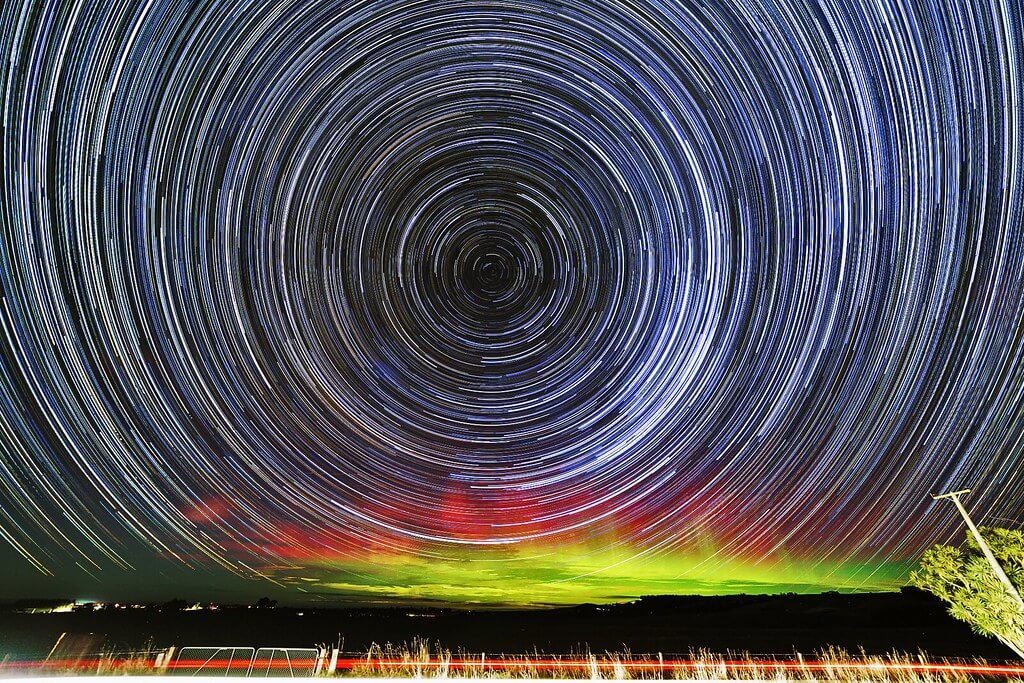 Paul Stewart - Star trails and Aurora